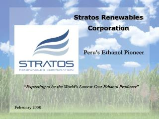 Stratos Renewables  Corporation