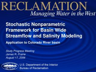 Stochastic Nonparametric Framework for Basin Wide Streamflow and Salinity Modeling