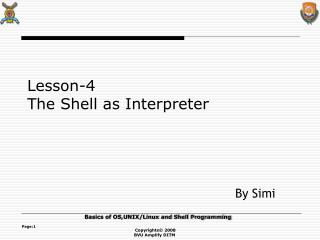 Lesson-4 The Shell as Interpreter
