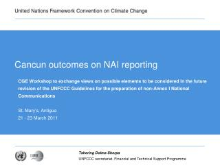 Cancun outcomes on NAI reporting