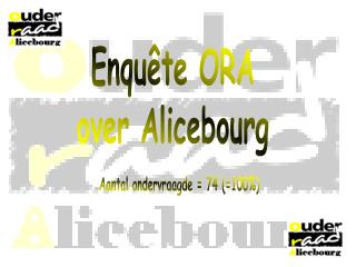 Enquête ORA over Alicebourg