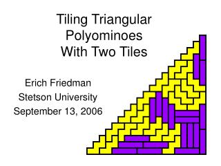 Tiling Triangular Polyominoes With Two Tiles