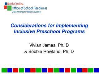 Considerations for Implementing Inclusive Preschool Programs