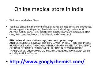 Online Medical Store in India
