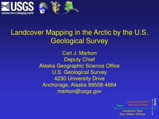 Landcover Mapping in the Arctic by the U.S. Geological Survey