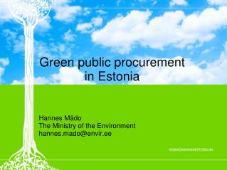 Green public procurement  in Estonia