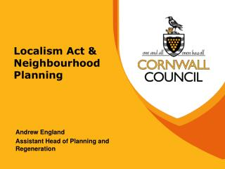 Localism Act & Neighbourhood Planning