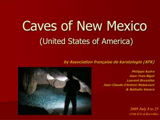 Caves of New Mexico ( United States of America )