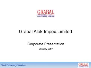 Corporate Presentation January 2007