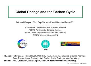 Global Change and the Carbon Cycle