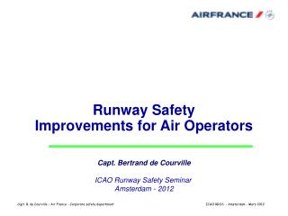 Runway Safety  Improvements for Air Operators