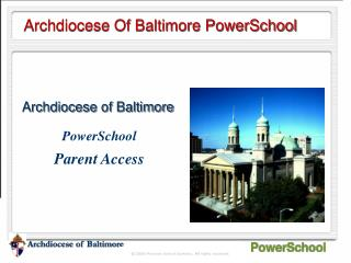 Archdiocese Of Baltimore PowerSchool