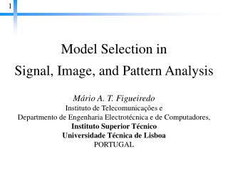 Model Selection in  Signal, Image, and Pattern Analysis