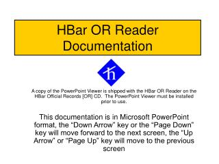 HBar OR Reader Documentation