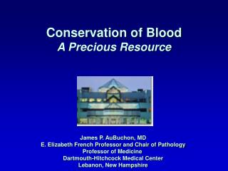 Conservation of Blood A Precious Resource