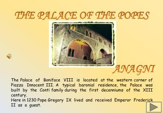 THE PALACE OF THE POPES