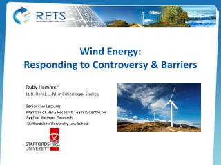 Wind Energy: Responding to Controversy & Barriers
