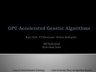 GPU-Accelerated Genetic Algorithms