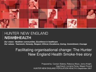 Facilitating organisational change: The Hunter New England Health Smoke-free story