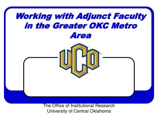 Working with Adjunct Faculty in the Greater OKC Metro Area
