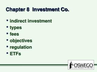 Chapter 8  Investment Co.