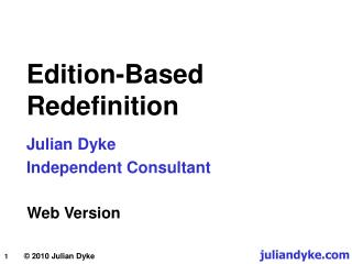 Edition-Based Redefinition