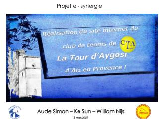 Aude Simon – Ke Sun – William Nijs 5 Mars 2007