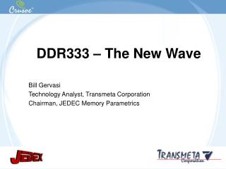 DDR333 – The New Wave