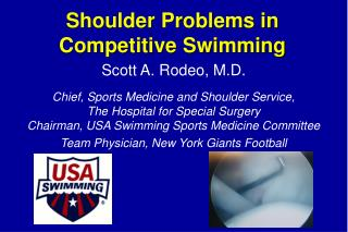 Shoulder Problems in Competitive Swimming