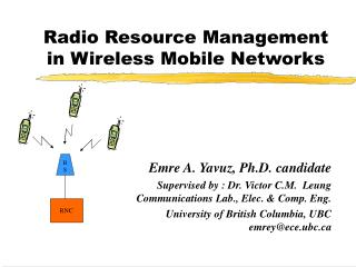 Radio Resource Management in Wireless Mobile Networks