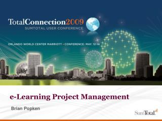 e-Learning Project Management