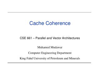 Cache Coherence