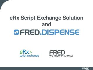 eRx  Script Exchange Solution and