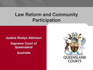 Law Reform and Community Participation