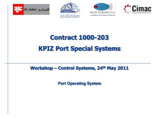 Contract 1000-203  KPIZ Port Special Systems