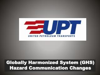 Globally Harmonized System ( GHS ) Hazard Communication Changes