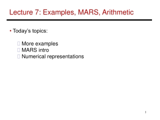 Lecture 7 - Examples