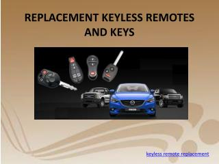 Keyless Entry Remotes Battery Replacement
