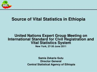 Source of Vital Statistics in Ethiopia