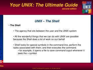 UNIX – The Shell