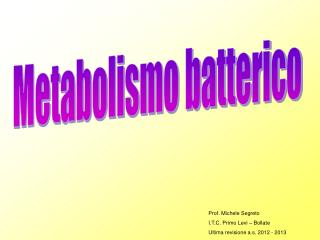 Metabolismo batterico