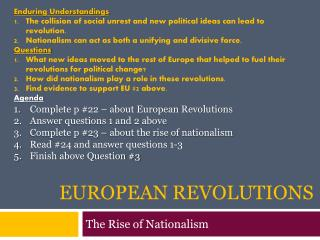 European Revolutions