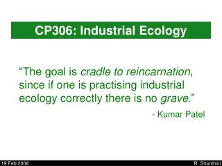 CP306: Industrial Ecology