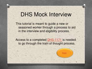 DHS Mock Interview
