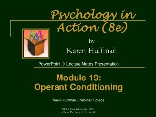 Psychology in Action (8e) by Karen Huffman