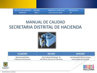 MANUAL DE CALIDAD SECRETARIA DISTRITAL DE HACIENDA