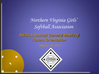 NVGSA Annual General Meeting/ Parent Orientation