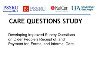 CARE QUESTIONS STUDY