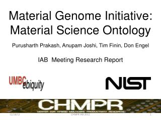 Material Genome  Initiative: Material Science Ontology