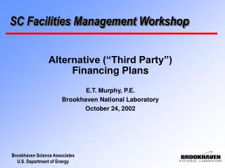 SC Facilities Management Workshop